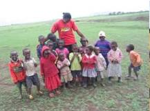 Clubbers in IDP Camp in Kenya