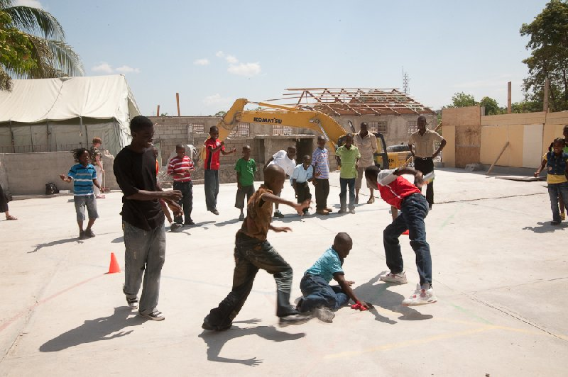 Haitian Children Playing Awana Games