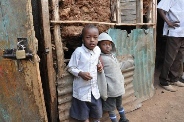 Boys in Kibera Slum, Kenya